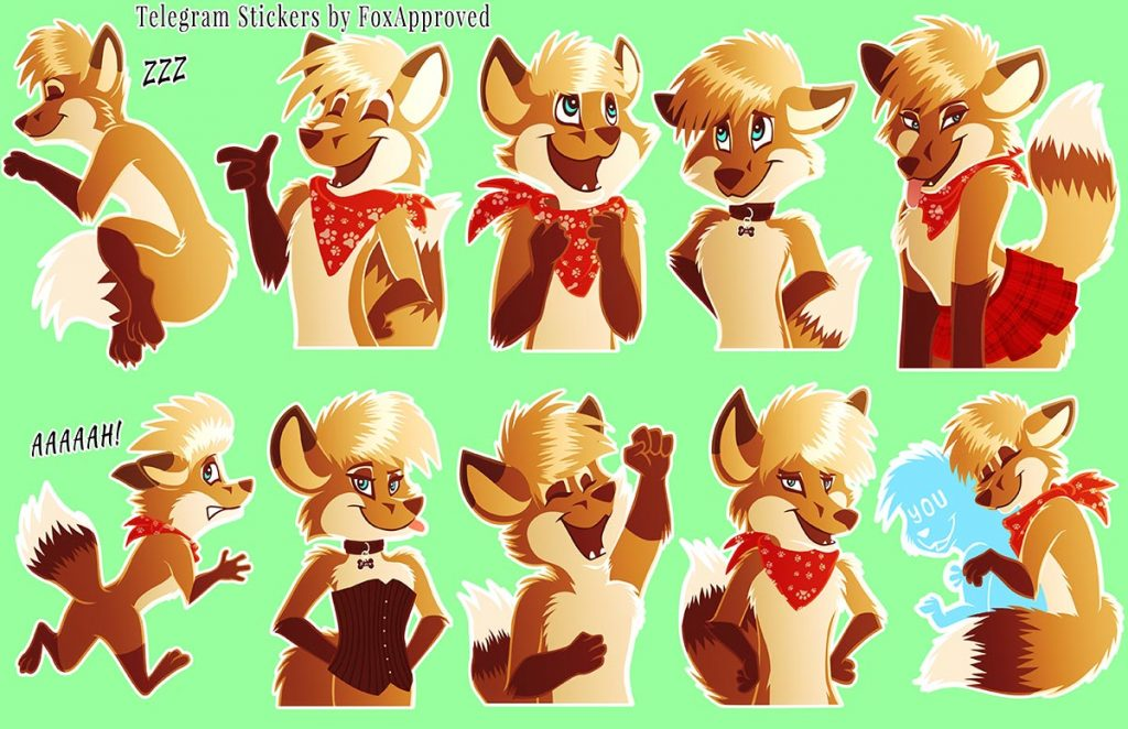 furry stickers on telegram