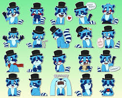 Ice Raccoon stickers telegram