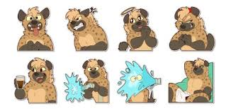 spotted Hyena stickers