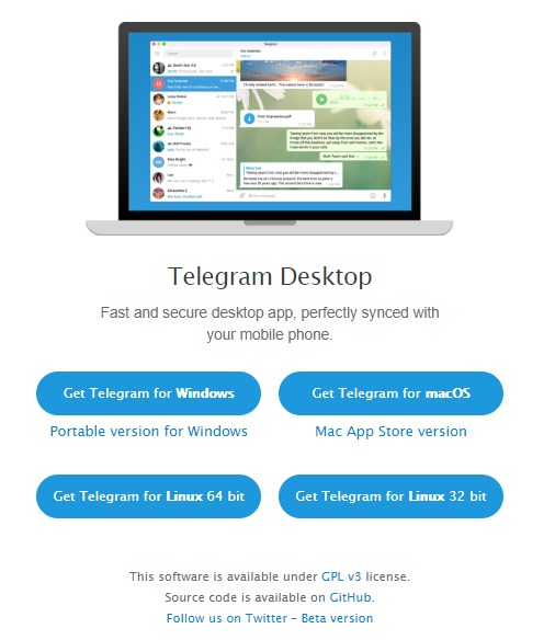 Telegram for PC download