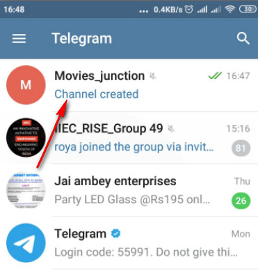 Create Telegram Channel