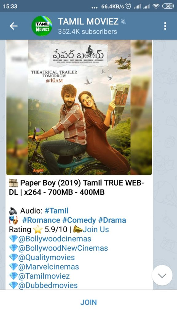 best telegram channels for tamil movies
