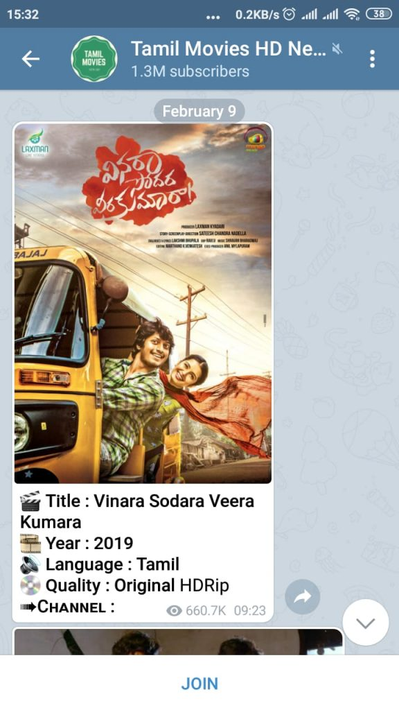 Tamil movies telegram