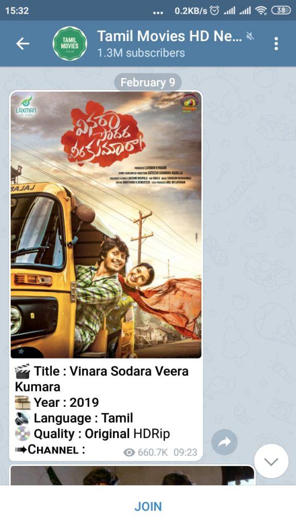 Tamil movies telegram